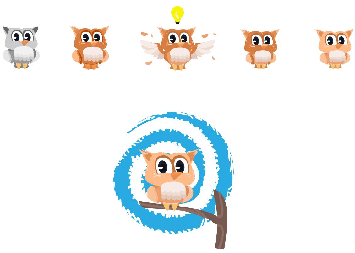 Flat Design Character owl