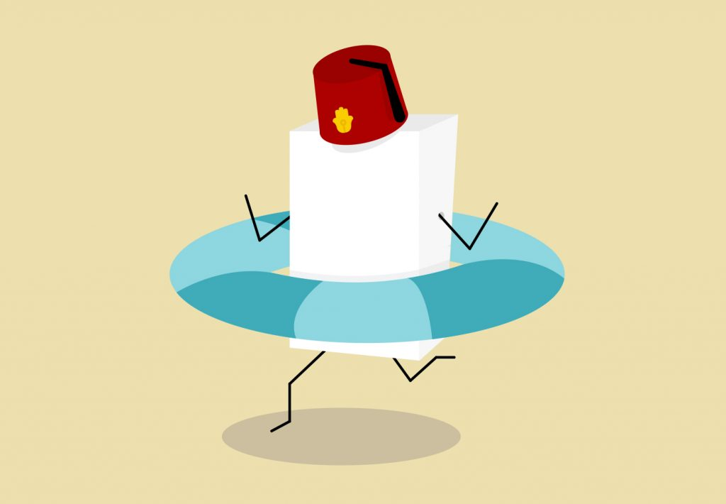 Flat Design Character sugar cube