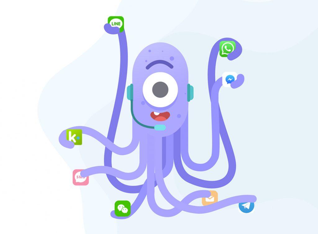 Flat Design Character octopus