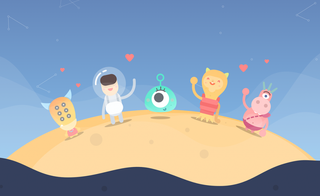 Flat Design Character space