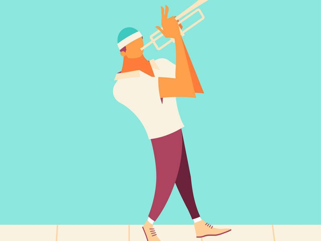 Flat Design Character music