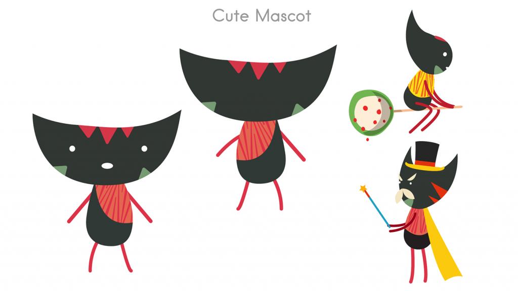 Flat Design Character mascot