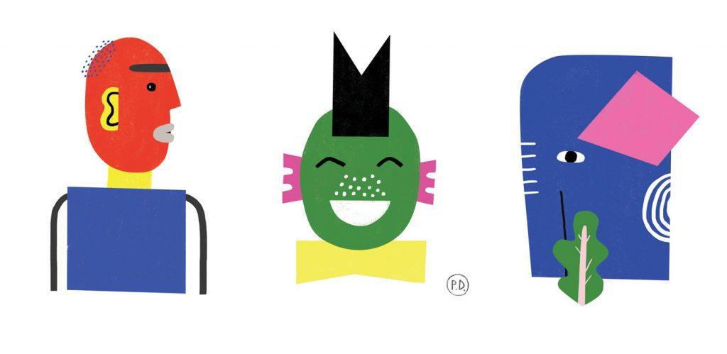 Flat Design Character shape characters