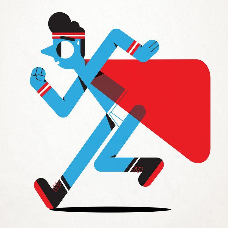 Flat Design Character superhero