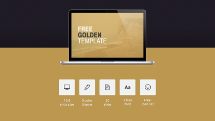free powerpoint template golden