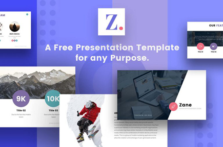 Free powerpoing google slices keynote template