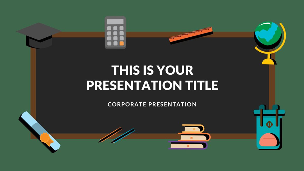 free powerpoint template graduation theme