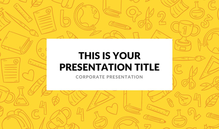 The best free powerpoint templates to download in 2018 graphicmama free powerpoint template colorful school theme toneelgroepblik Image collections