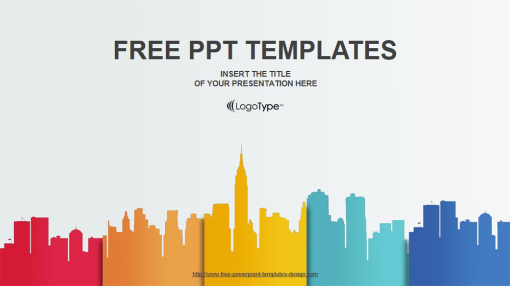 The best free powerpoint templates to download in 2018 graphicmama free powerpoint template city landscape toneelgroepblik Image collections