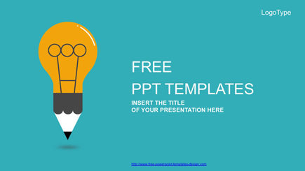The best free powerpoint templates to download in 2018 graphicmama free powerpoint template cartoon lightbulb maxwellsz