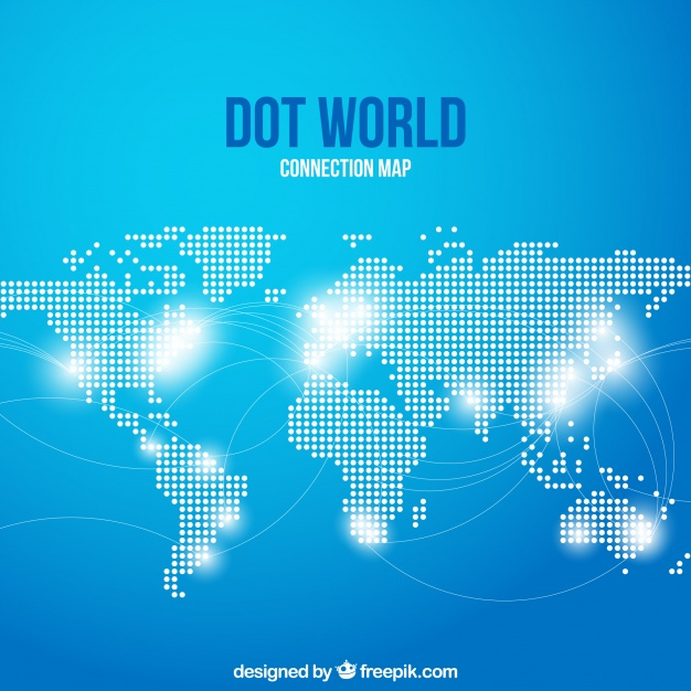 World Map made of dots vector