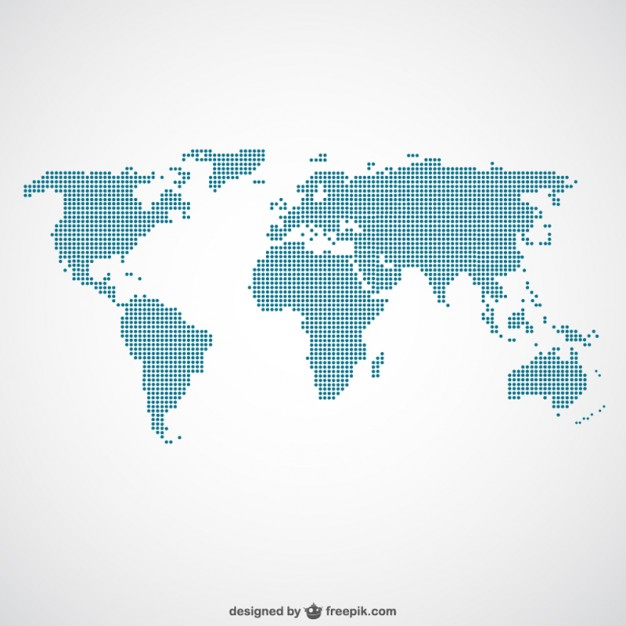World Map Vector made of dots