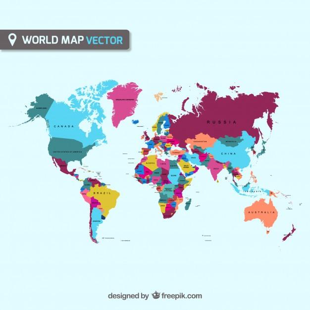 World Map Vector countries