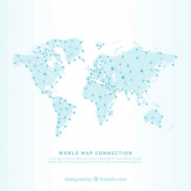 Minimalistic World Map Vector