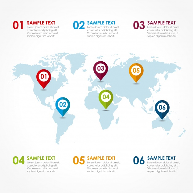 Free world map vector collection 55 different designs graphicmama world map vector infographic gumiabroncs Images