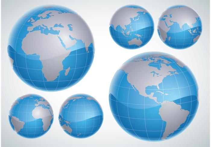 3D World Globe Vector