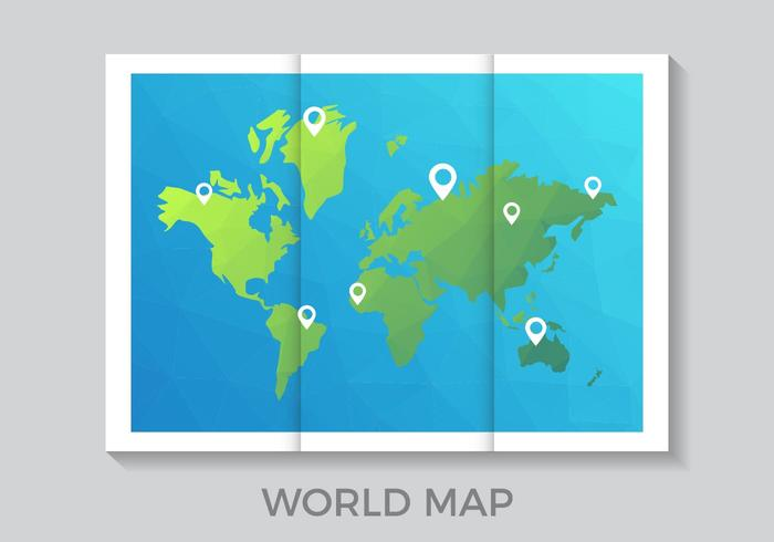 World Map on Wall Vector