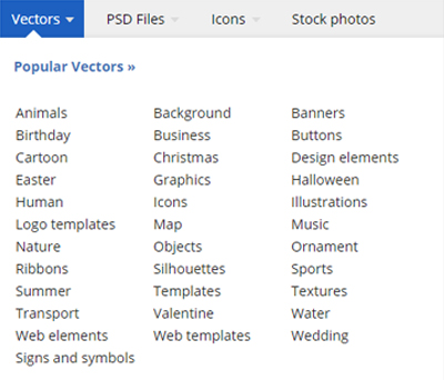 Freepik vs Vecteezy: Freepik Content categories