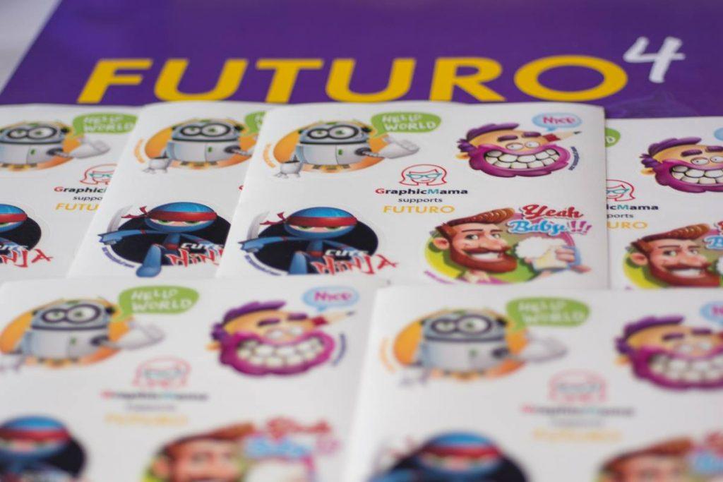 GraphicMama stickers for Futuro festival