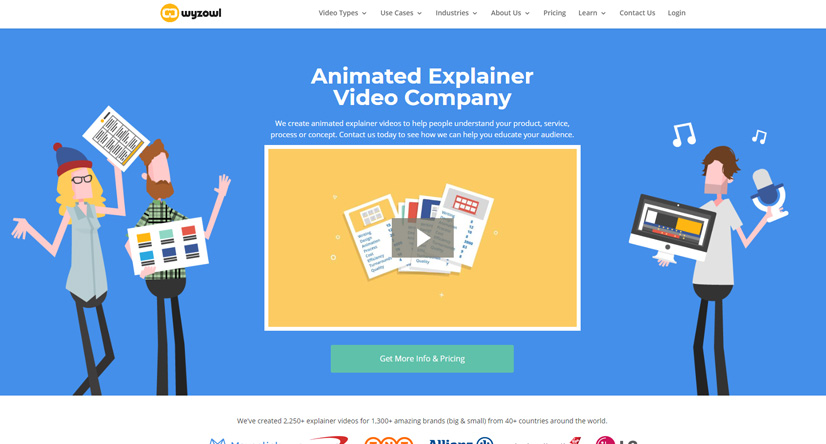 explainer video companies Wyzowl