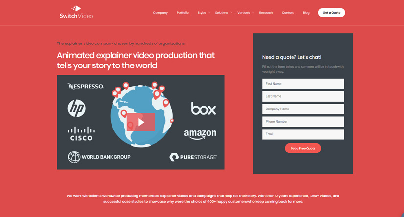 explainer video companies Switch Video