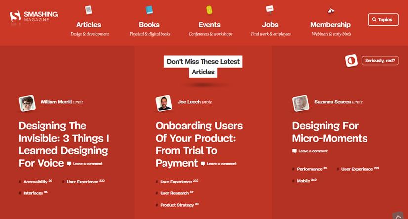 design blogs - smashing magazine