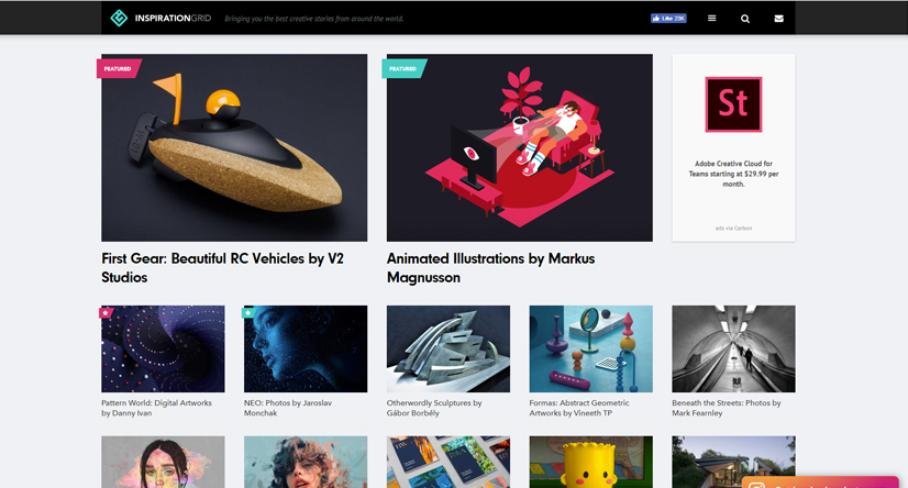 design blogs - inspiration grid
