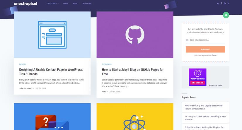 design blogs - onextrapixel