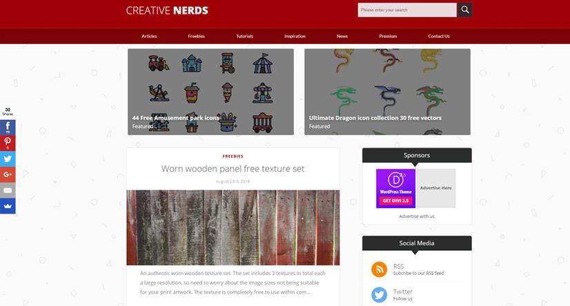 design blogs - creative nerds