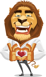 animated explainer videos lion show love