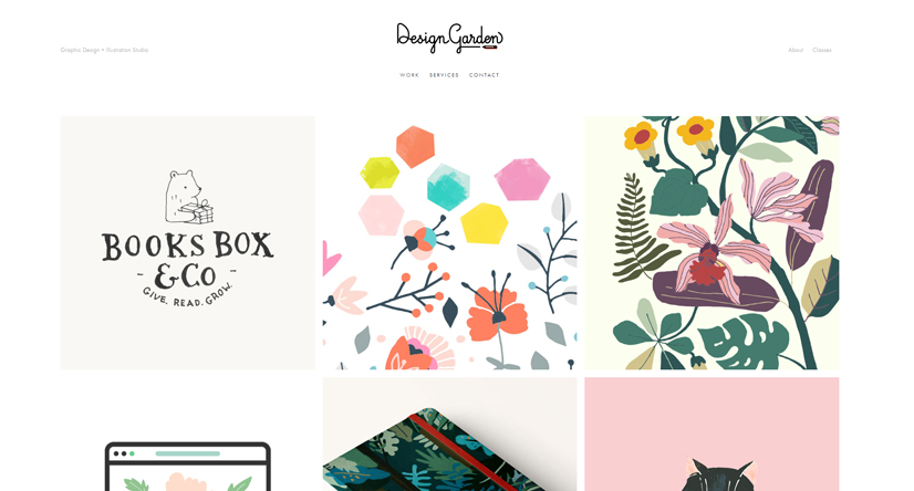illustration companies design garden