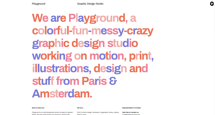 Playground cool graphic design studio