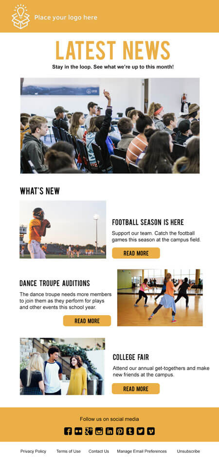 responsive email template: General