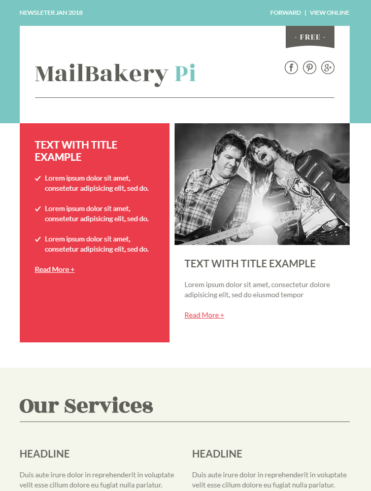 mailbakery pi free html email template