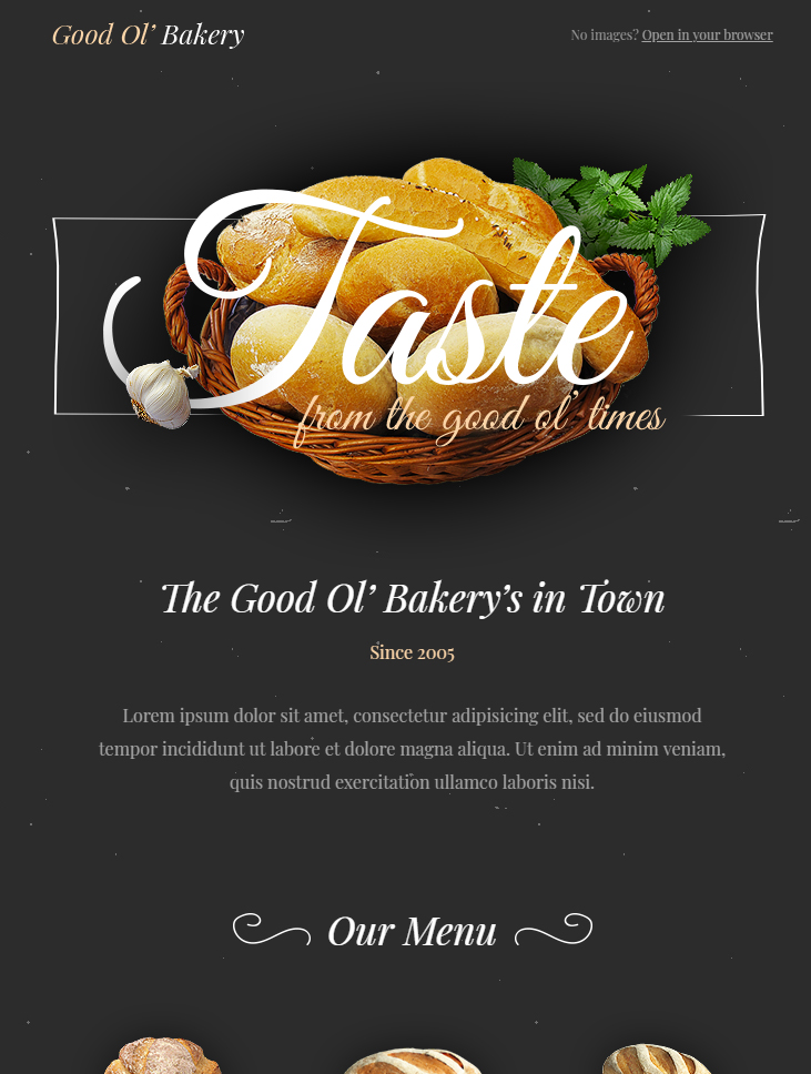 bakery html email template free download