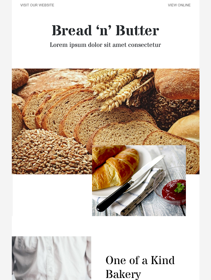 bakery free modern email template