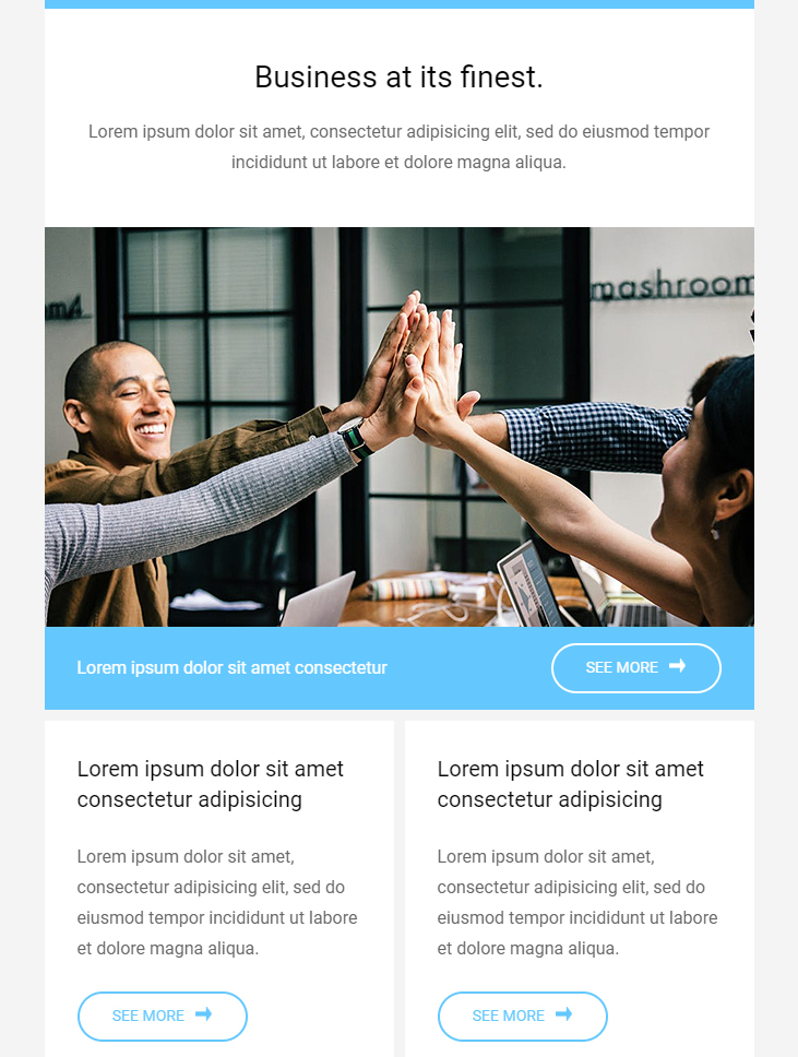 business free html email template