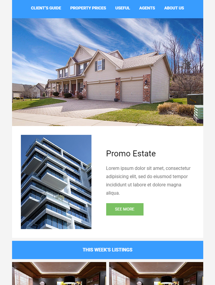 real estate free email newsletter template