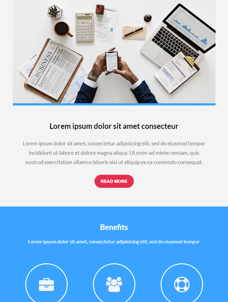 business free html email marketing template