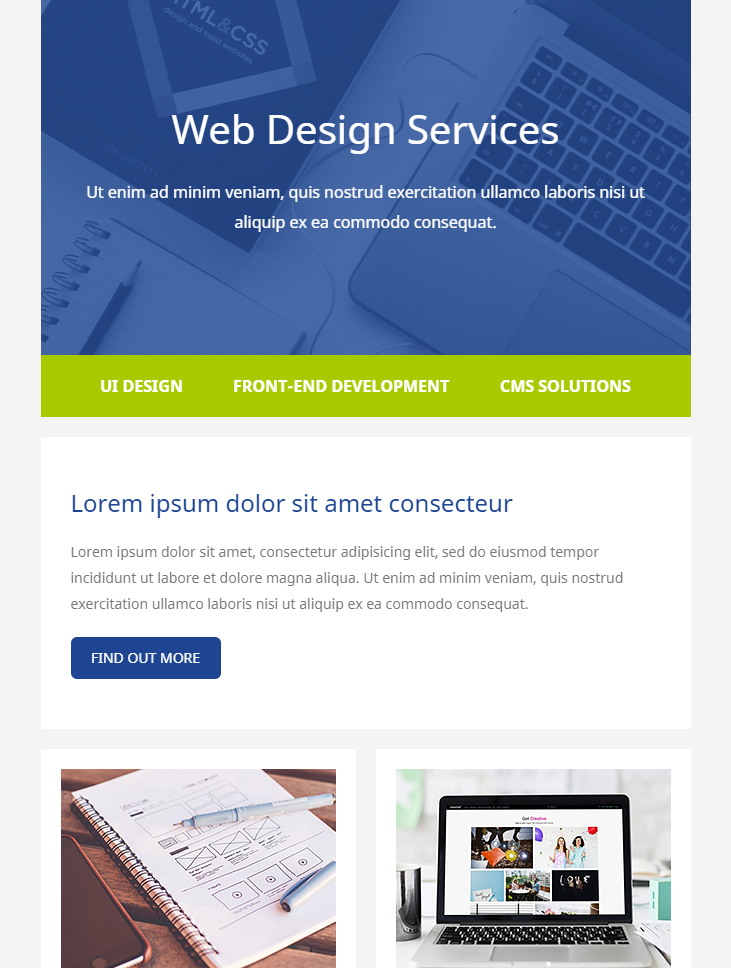 technology html email template free download