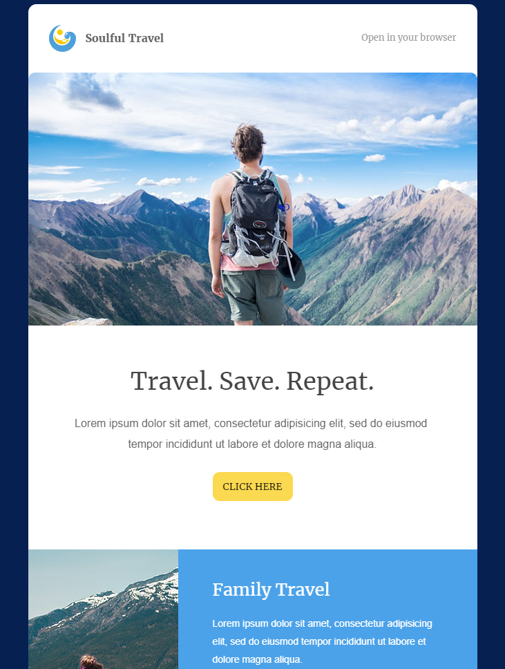 travel html email template free