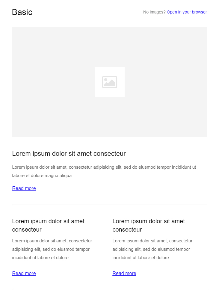 basic HTML email template free download
