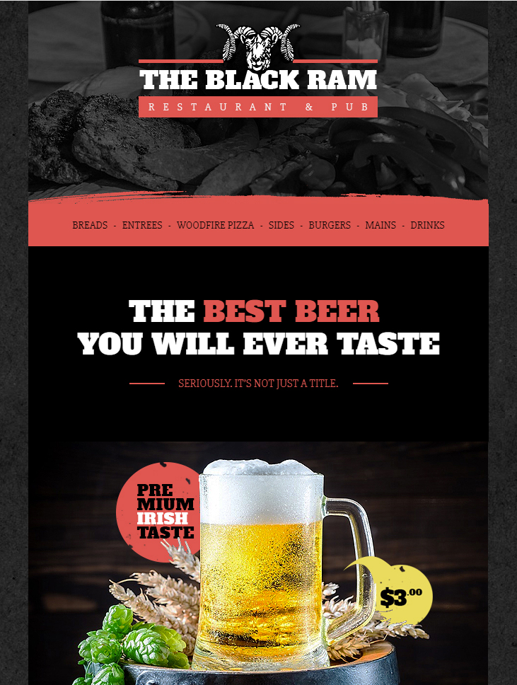 pub free html email template