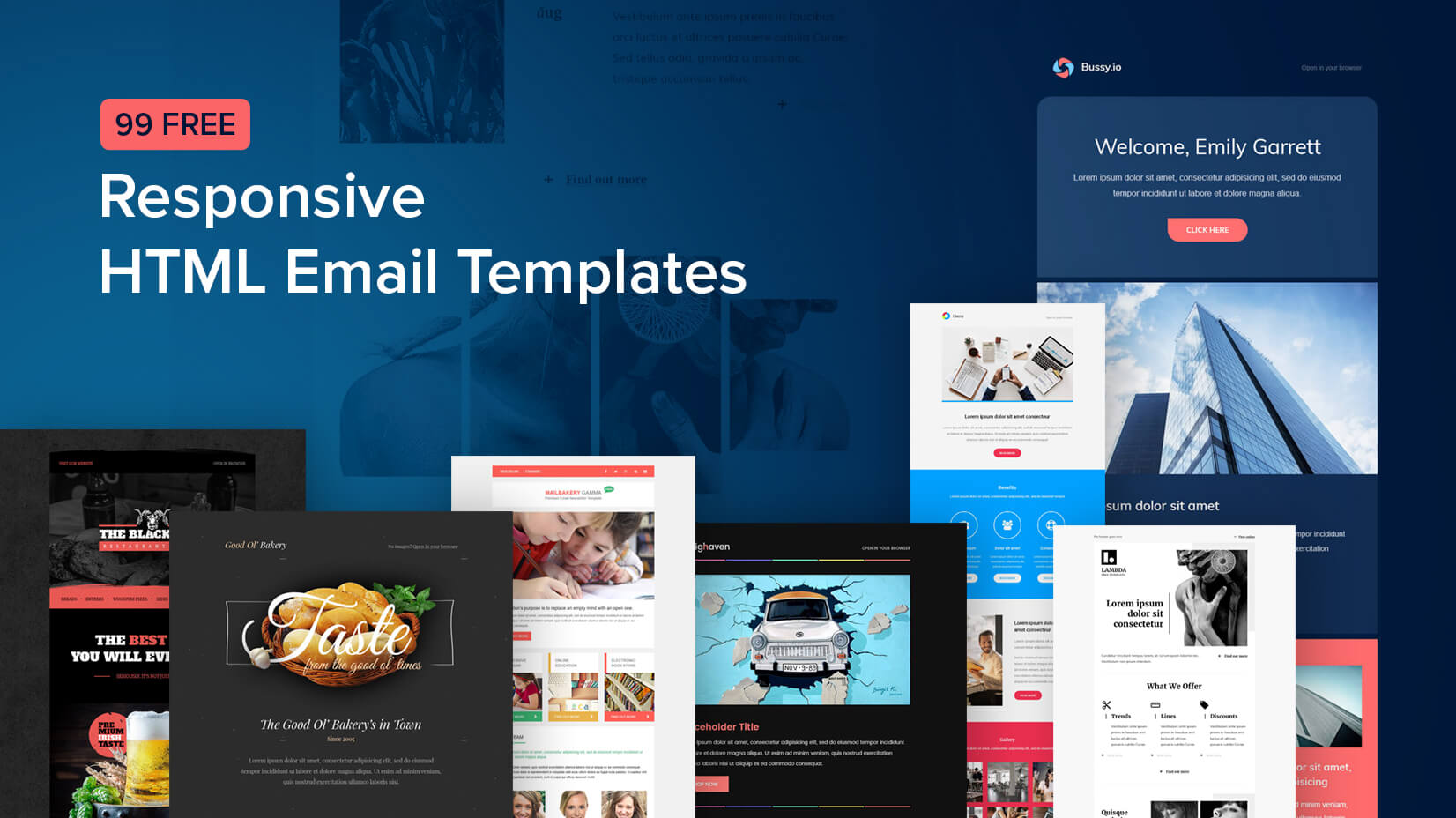 30 free responsive email and newsletter templates.