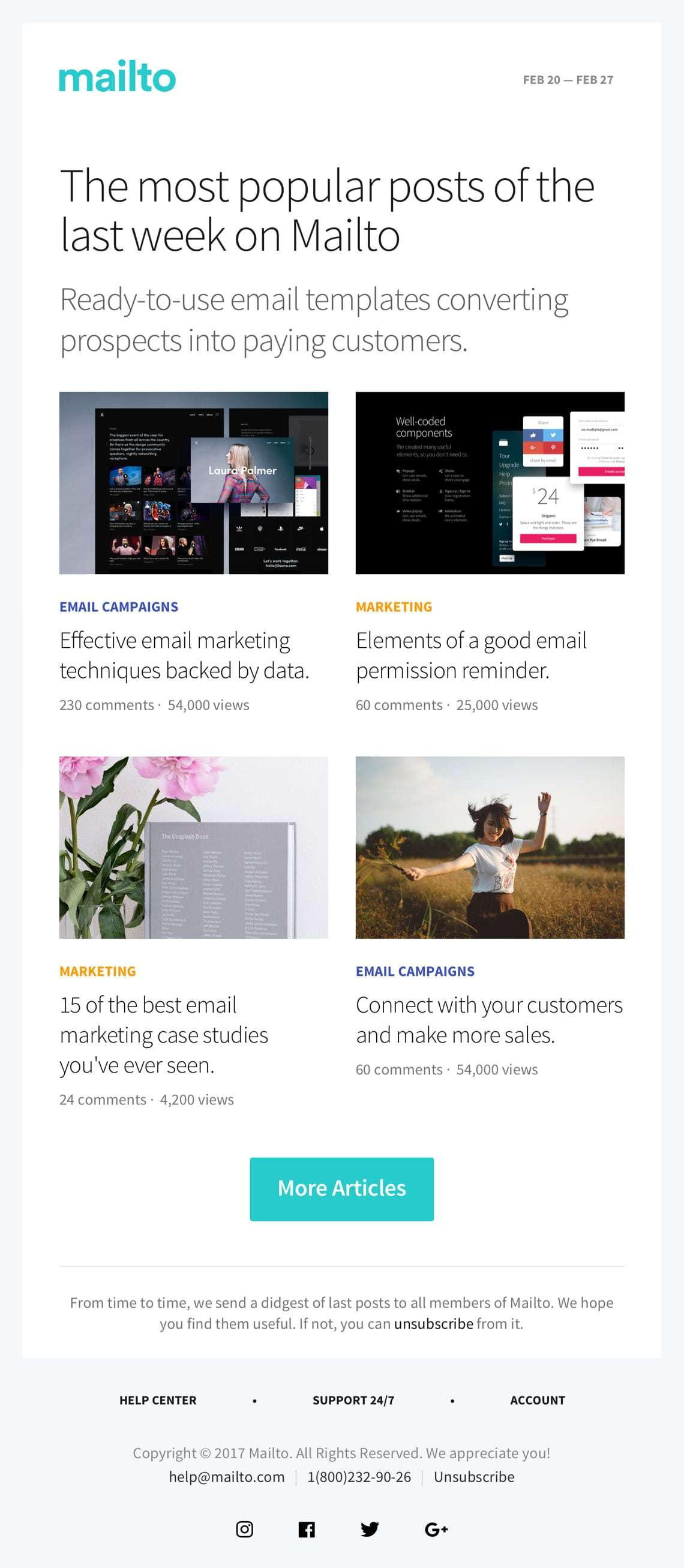basic modern newsletter template free download