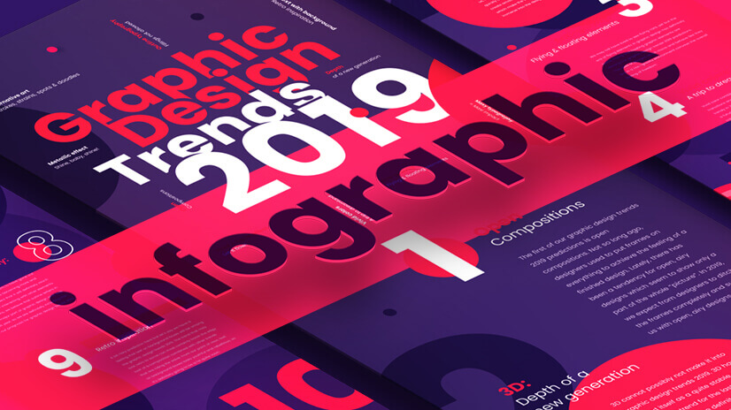 Top Graphic Design Trends 2019: Fresh Hot & Bold | GraphicMama