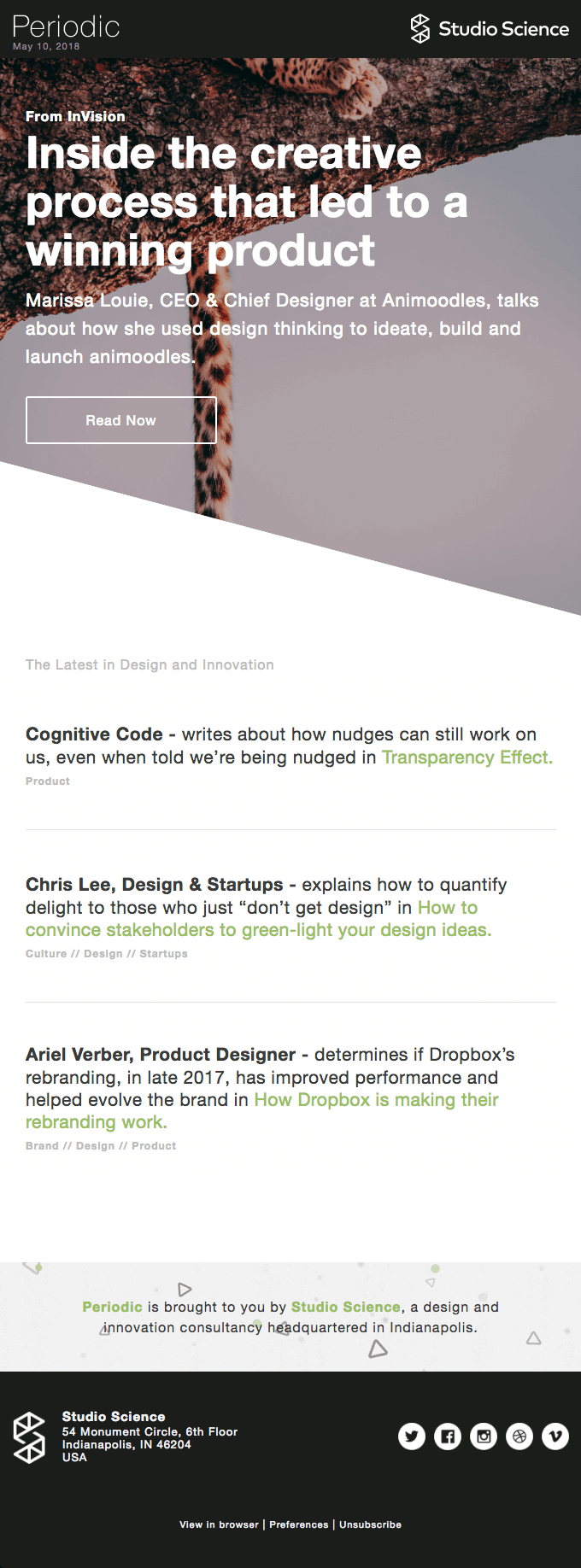 periodic-from-studio-science email newsletter examples