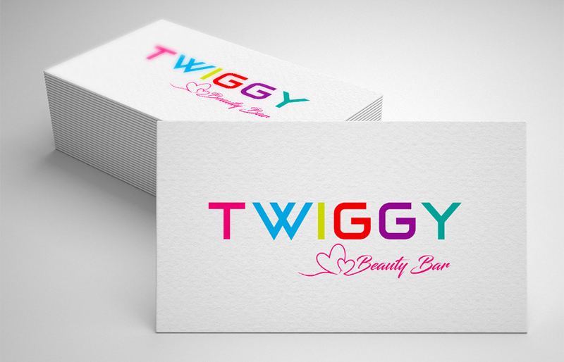 Twiggy Beauty Bar logotype design