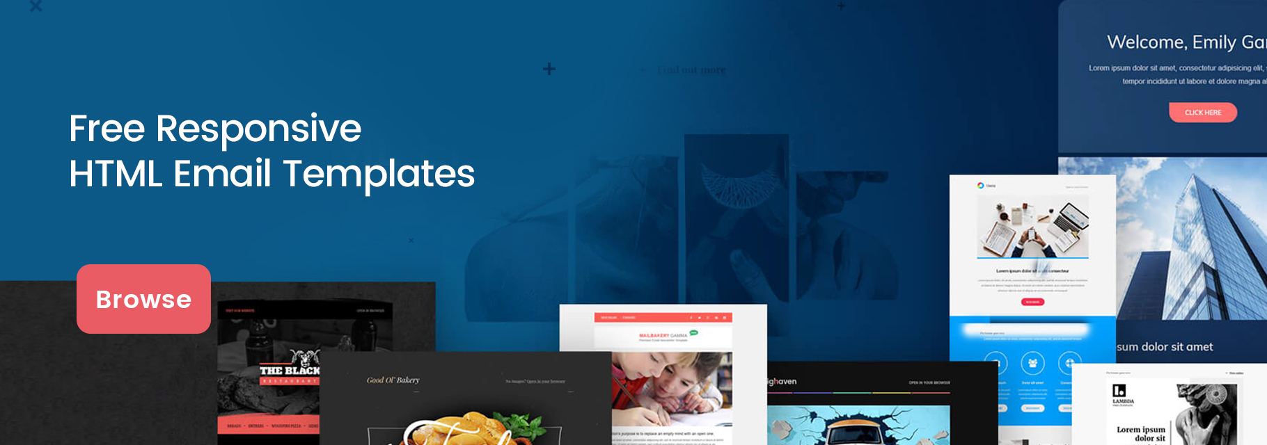 free responsive html email templates banner