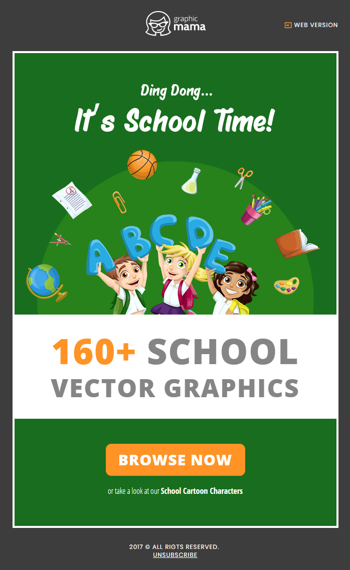 school time email marketing campaign